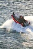 US Coast Guard motorboat sailing Stock Photo