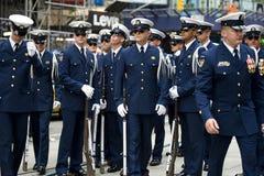 Us coast guard parade. Parade at time square of the us coast guard Stock Photo