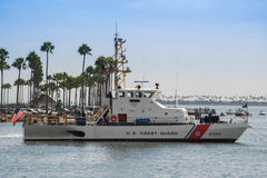 US Coast Guard patrol boat Stock Images