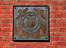 US Coast GUard Plaque. Image of a bronze US Coast Guard PLaque Stock Images