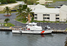US Coast Guard returns from mission Stock Photo