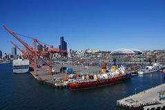 US Coast Guard ship on Seattle waterfront Stock Image