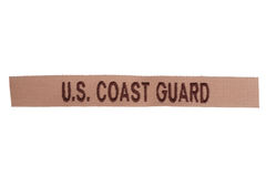 Us coast guard uniform badge Royalty Free Stock Images