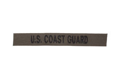 Us coast guard uniform badge. Isolated on white Royalty Free Stock Photography