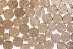 Us coin as background Royalty Free Stock Photography