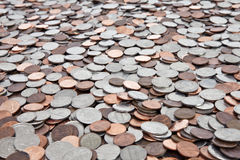 US Coin Background Royalty Free Stock Images