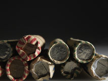 US Coin Rolls royalty free stock photo