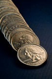 US Coins. Close up shot stock images