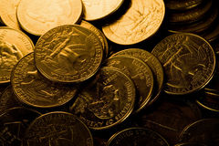 US Coins. Close up shot royalty free stock photography