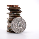 US Coins Royalty Free Stock Photo