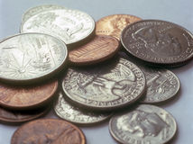 US coins. Royalty Free Stock Photo