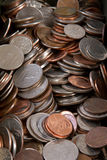 Us Coins. Nickel Quarters dimes Stock Photo