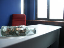 US coins in the bottle Royalty Free Stock Photography
