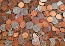 US Coins. Pile of the US coins stock image