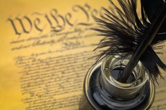 We The People Quill and Ink royalty free stock photo