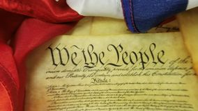 US Constitution Historical Document We The People stock footage