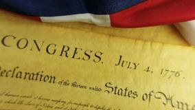 US Constitution Historical Document We The People stock video