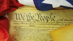 US Constitution Historical Document We The People stock video footage