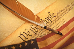 US Constitution - We The People Stock Image