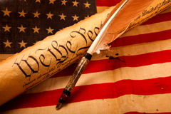 US Constitution - We The People Stock Images