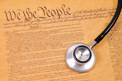 US Constitution and stethoscope Stock Images