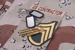 Us contractor concept Royalty Free Stock Photo