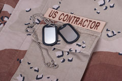 Us contractor uniform Royalty Free Stock Image