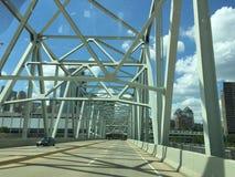 US 27 Crossing the Ohio River, Cincinati, Ohio, USA. From Newport, Kentucky , across to Cincinati Stock Photo