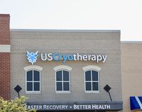 US Cryotherapy. Is leading the modernization of whole body cryotherapy utilizing US manufactured walk-in cold chambers. We offer the Only True Whole Body Stock Photo