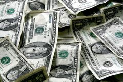 US Currency. Background. Several denominations of money stock photography