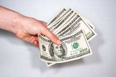 US currency bills 100 Stock Photo