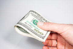 US currency bills 100 Stock Photos