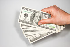 US currency bills 100 Royalty Free Stock Photography