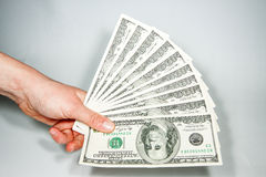 US currency bills 100 Stock Image