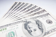 US currency bills 100 Royalty Free Stock Images