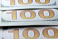 US Currency Closeup Royalty Free Stock Photography