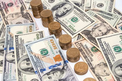 US currency dollar bills as background Royalty Free Stock Image