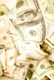 US currency falling Royalty Free Stock Photo
