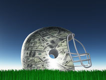 US Currency Helmet Royalty Free Stock Image