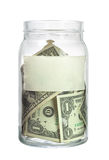 US currency in a jar Stock Photo