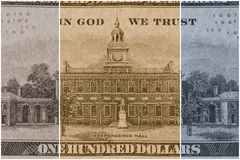 US Currency One Hundred Dollar Bill. American currency one hundred dollar bill - Finance and banking concept Stock Photos