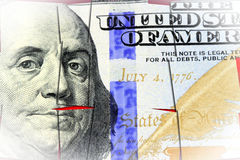 US Currency One Hundred Dollar Bill. American currency one hundred dollar bill - Finance and banking concept Royalty Free Stock Images