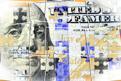 US Currency One Hundred Dollar Bill. American currency one hundred dollar bill - Finance and banking concept Stock Photography