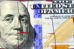 US Currency One Hundred Dollar Bill. American currency one hundred dollar bill - Finance and banking concept royalty free illustration