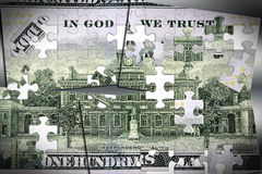 US Currency One Hundred Dollar Bill. American currency one hundred dollar bill - Finance and banking concept Stock Images