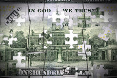 US Currency One Hundred Dollar Bill. American currency one hundred dollar bill - Finance and banking concept Royalty Free Stock Image