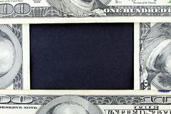 US Currency One Hundred Dollar Bill Frame. Stock Photos