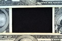 US Currency One Hundred Dollar Bill Frame. Royalty Free Stock Image