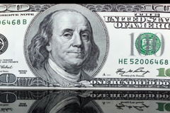 US Currency One Hundred Dollar Bills Royalty Free Stock Images