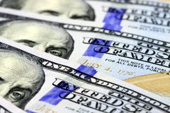 US Currency One Hundred Dollar Bills Royalty Free Stock Photography